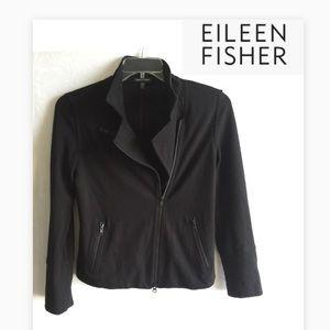 EILEEN FISHER || asymmetrical zip front blazer